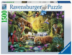 Puzzle Iaz Cu Tigri, 1500 Piese