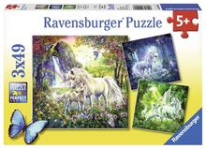Puzzle Unicorni, 3X49 Piese