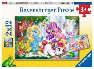 Puzzle Unicorni Magici, 2X12 Piese