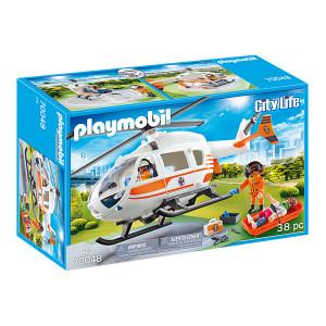 Set de joaca Playmobil City Life, Elicopter De Salvare