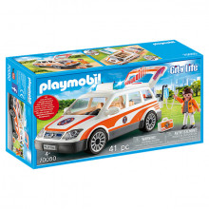 Set de joaca Playmobil City Life, Masina De Urgenta Cu Sirena