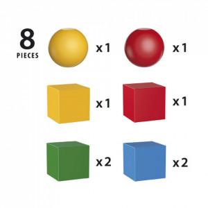 Blocuri Colorate Magnetice