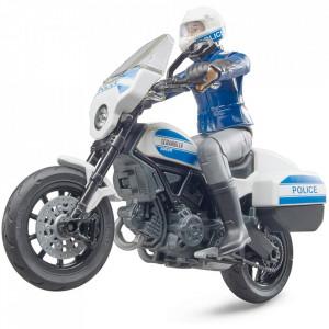 Bruder - Motocicleta De Politie Scrambler Ducati Si Politist