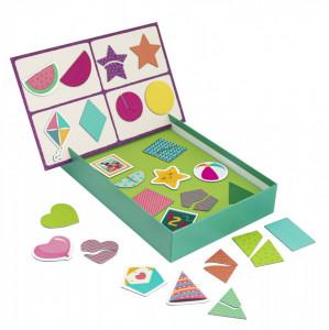 Cutie Magnetica Forme Geometrice Cu 36 De Piese
