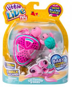 Little Live Pets Testoasa Electronica Cu Pui S4 Melon Drops