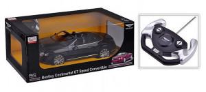 Masina Cu Telecomanda Bentley Continetal Gt Negru Cu Scara 1 La 12