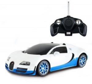 Masina Cu Telecomanda Bugatti Grand Sport Vitesse Alb Cu Scara 1 La 18