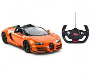Masina Cu Telecomanda Bugatti Grand Sport Vitesse Portocaliu Cu Scara 1 La 14