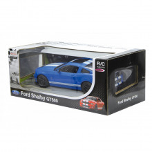 Masina Cu Telecomanda Ford Shelby Gt500 Albastru Cu Scara 1 La 14