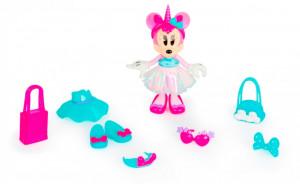 Papusa Minnie Cu Accesorii - Rainbow Glow