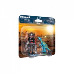 Playmobil Set 2 Figurine - Dinozaur Si Cercetator