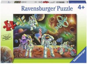 Puzzle Astronauti Pe Luna, 35 Piese