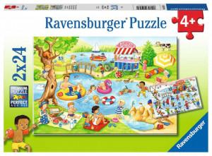 Puzzle Distractie La Lac, 2X24 Piese