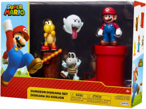 Set de joaca diorama Super Mario Nintendo, model Dungeon cu figurina 6 cm