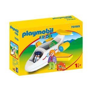 Set de joaca Playmobil 1.2.3, Avion Cu Pasager