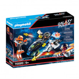 Set de joaca Playmobil, Bicicleta Politiei Galactice