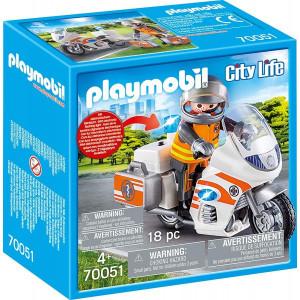 Set de joaca Playmobil, Motocicleta De Urgenta Cu Lumini