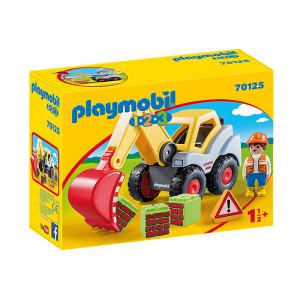 Set de joaca Playmobil 1.2.3, Excavator Cu Brat Mobil