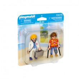Set 2 Figurine Playmobil - Doctor Si Pacient