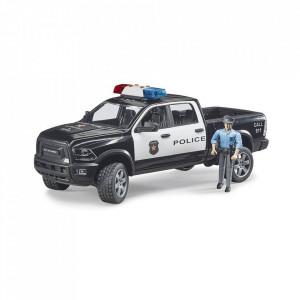 Bruder - Camion De Politie Ram 2500 Cu Politist Si Accesorii