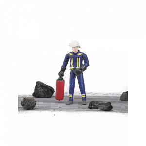 Bruder - Figurina Pompier Cu Accesorii