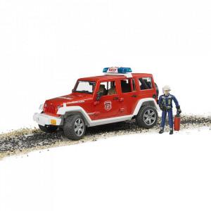 Bruder - Jeep Wrangler Unlimited Rubicon De Pompieri Cu Figurina