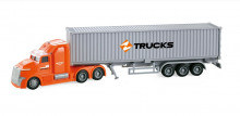 Camion Tir Fast Delivery Frictiune Lumini Si Sunete Scara 1:50