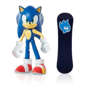 Figurina Articulata Sonic 10 Cm Cu Accesorii - Sonic With Snowboard