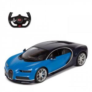 Masina Cu Telecomanda Bugatti Chiron Albastru Scara 1 La 14