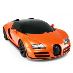 Masina Cu Telecomanda Bugatti Grand Sport Vitesse Portocaliu Cu Scara 1 La 24