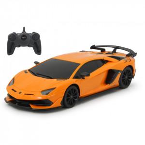 Masina Cu Telecomanda Lamborghini Aventador Svj Portocaliu Cu Scara 1 La 24