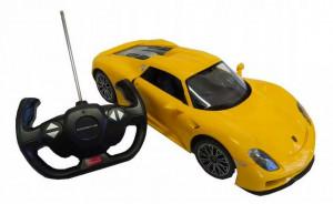 Masina Cu Telecomanda Porsche 918 Spyder Galben Scara 1 La 14