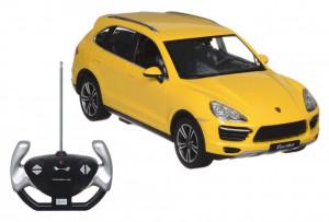 Masina Cu Telecomanda Porsche Cayenne Turbo Galben Cu Scara 1 La 14