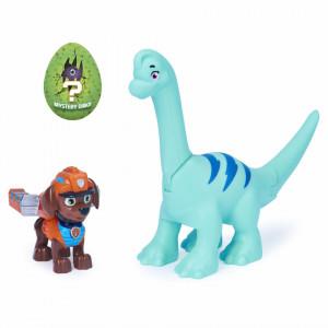 Patrula Catelusilor Set Figurina Catelus Zuma Si Dinozaurul Brontosaurus
