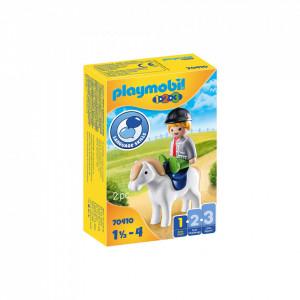 Playmobil 1.2.3 Baietel Cu Ponei