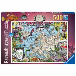 Puzzle Harta Europei, 500 Piese