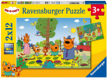 Puzzle Kid E Cats, 2X12 Piese
