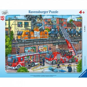 Puzzle Misiune De Salvare Pompieri, 48 Piese
