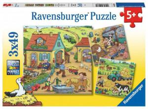 Puzzle Munca La Ferma, 3X49 Piese