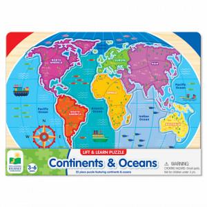 Puzzle - Sa Invatam Continentele Si Oceanele