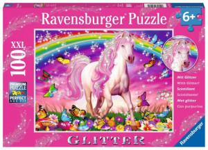 Puzzle Unicorn Si Curcubeu, 100 Piese