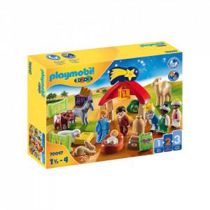 Set de joaca Playmobil 1.2.3 Scena De Craciun