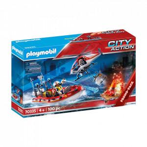 Set de joaca Playmobil Misiunea De Salvare A Pompierilor
