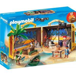 Set Mobil cu figurine Playmobil, Insula Aurie A Piratilor