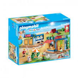 Set de joaca Playmobil Family Fun, Camping La Plaja