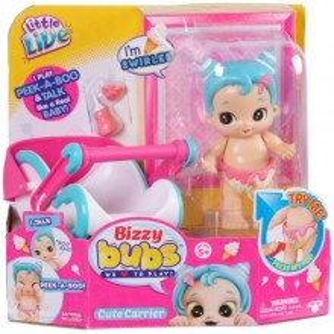 Bebelus interactiv Little Live Bizzy Bubs cu accesorii - Swirlee