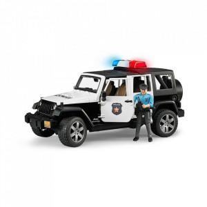 Bruder - Jeep Wrangler Unlimited Rubicon De Politie Cu Sirena Si Figurina
