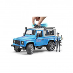 Bruder - Masina De Politie Land Rover Defender Cu Politist Si Accesorii