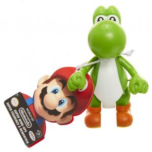 Figurina World of Mario Wind Up cu cheita - Model Yoshi verde, 6 cm