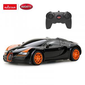 Masina Cu Telecomanda Bugatti Grand Sport Vitesse Negru Cu Scara 1 La 24